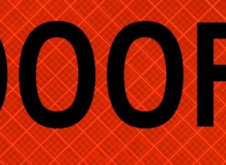 1000 feet orange sign reflective safety