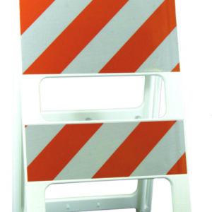 white orange stripe plasticade type II