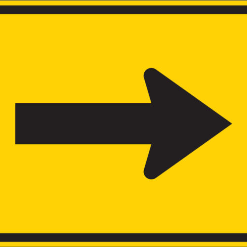 right arrow sign yellow