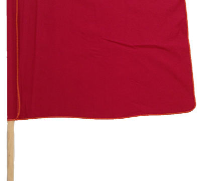 red flag with handle cotton material