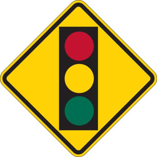 signal ahead yellow diamond sign