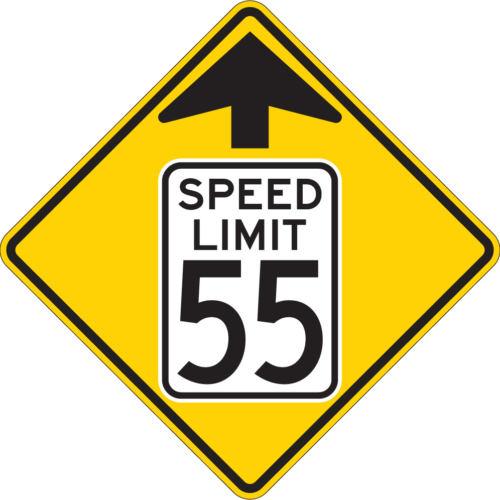 reduce speed ahead yellow diamond sign