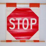 stop sign roll sign soft stop sign stop sign flag