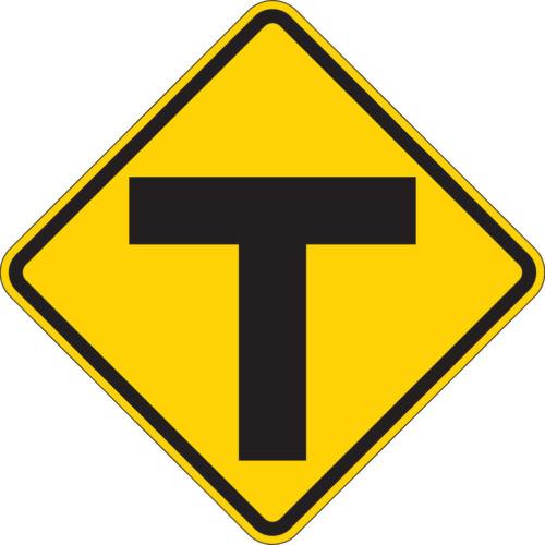 T symbol yellow sign