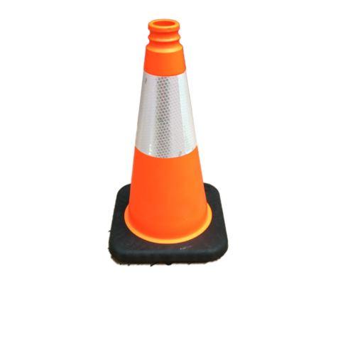 smaller orange cone black base reflective strip