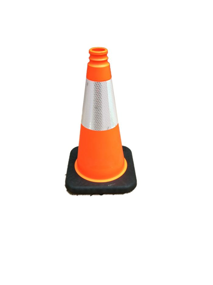 smaller orange cone black base reflective strip