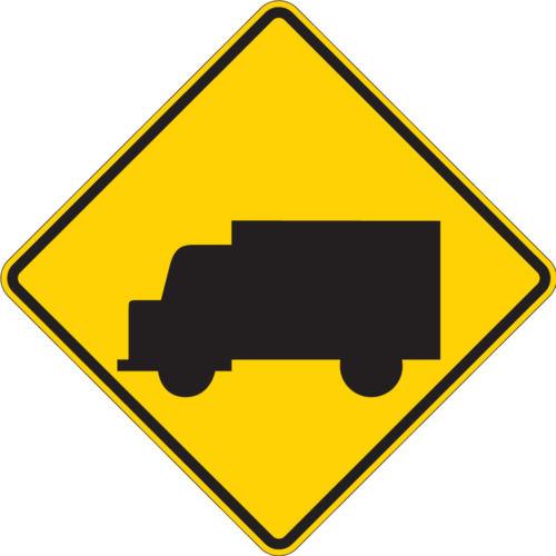 truck sign yellow diamond