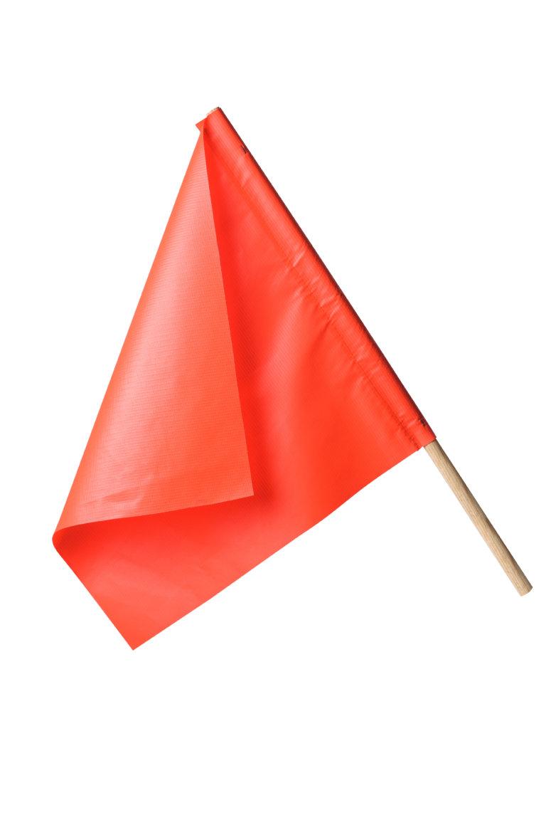 warning flag orange vinyl