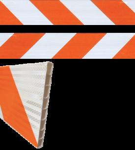 orange stripe barricade design