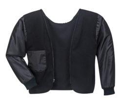 black protective coat front