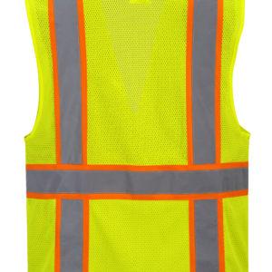 orange yellow reflective vest no sleeve