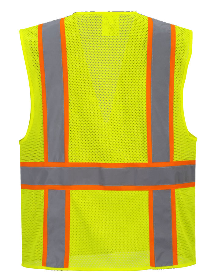 orange yellow reflective vest no sleeve