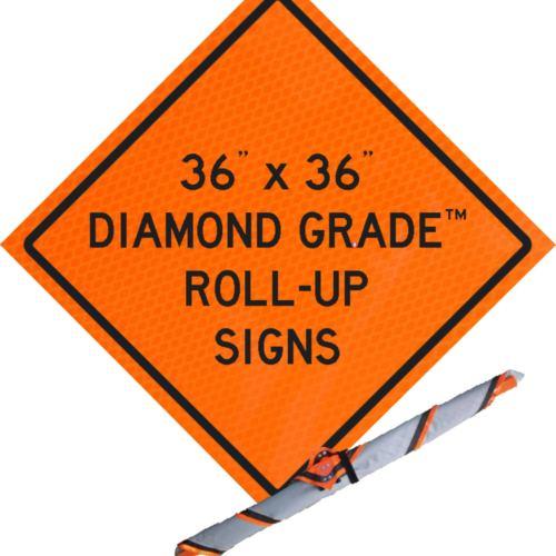 "36"" x 36"" diamond grade roll up"