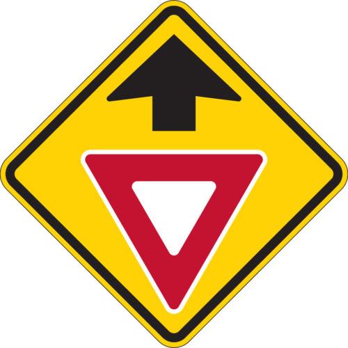 yield ahead yellow sign