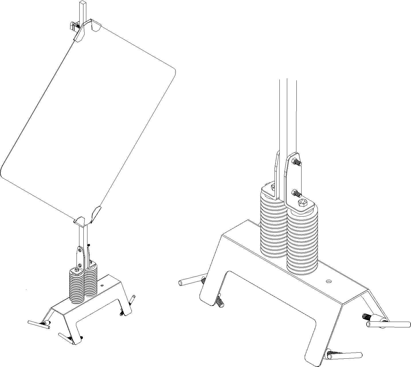 barricade_drawings clamp drawing for traffic sign stands with springs