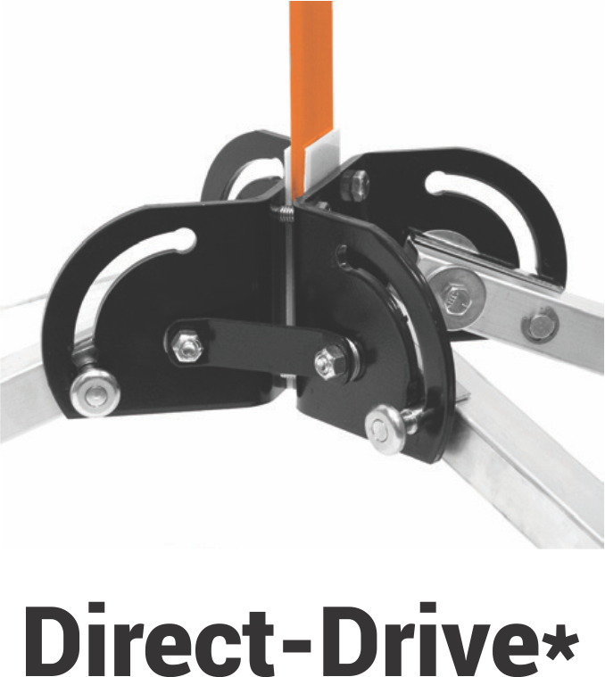 direct drive base on a sign stand in work zones that hold rigid or rollup sign stands for construction