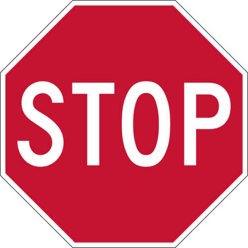 red stop sign classic