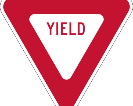yield red triangle sign