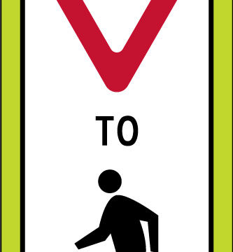 state law panel yield pedestrians yellow sign