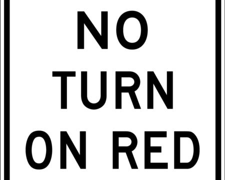 no turn on red white square sign