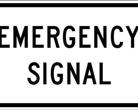 emergency signal white sign