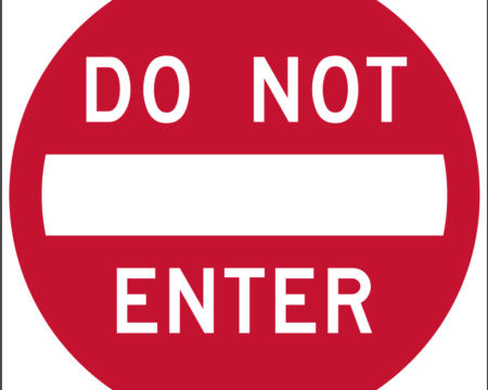 red do not enter sign