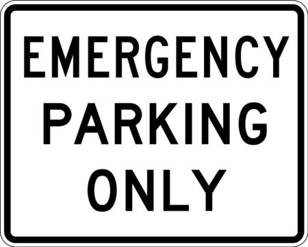 emergency parking online white square team