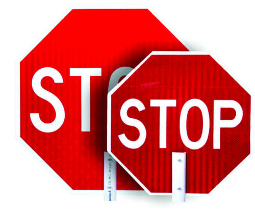 stop sign, stop paddle, stop crossing guard, sings for crossing guards, signs for flaggers, stop sign for flagger, flagger supplies, work zone stop sign,