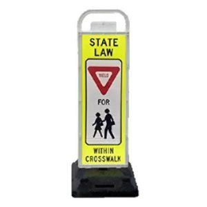 pedestrian crossing sign parking lot pedestrian cross walk signs