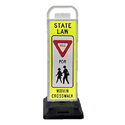 pedestrian crossing sign, parking lot pedestrian, cross walk signs,