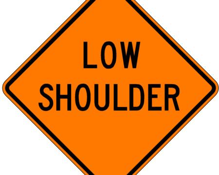 low shoulder orange sign