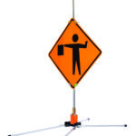 mid size stand sign stand traffic sign stand construction zone