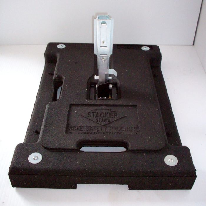 weighted black sign stand