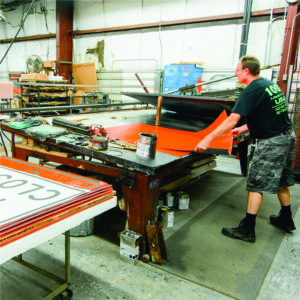 roll up signs, screen printed, traffic safety orange