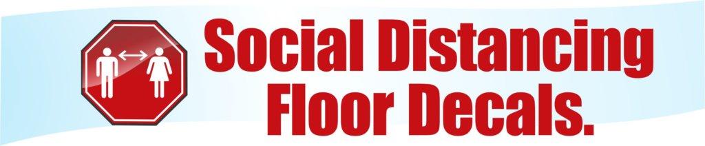 floor decal social distance flu