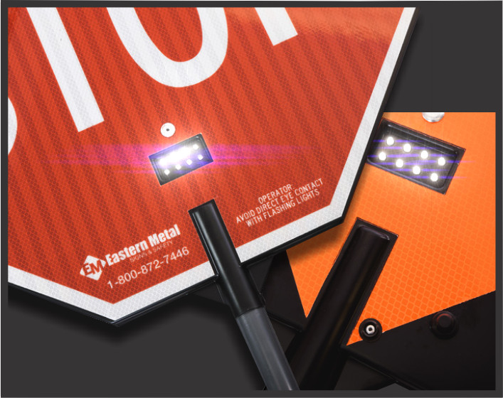 led sign, sign lights, illuminated signs, safety stop signs