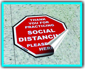 covid floor decal elmira ny stickers flu safety