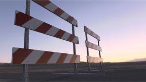 traffic safety barricade, type 3 barricade, type III
