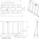 42 x 72 Safety Barricade details