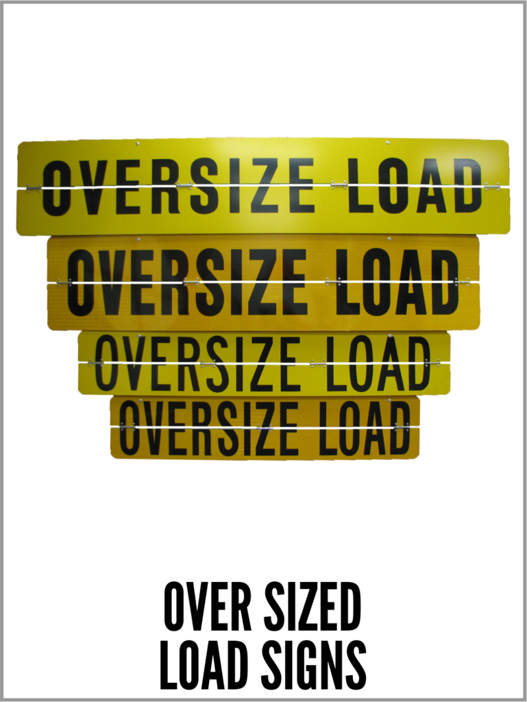 trucking oversize load, oversize, tractor trailer sign, oversize load, container trailer, large trucking sign, oversize sign