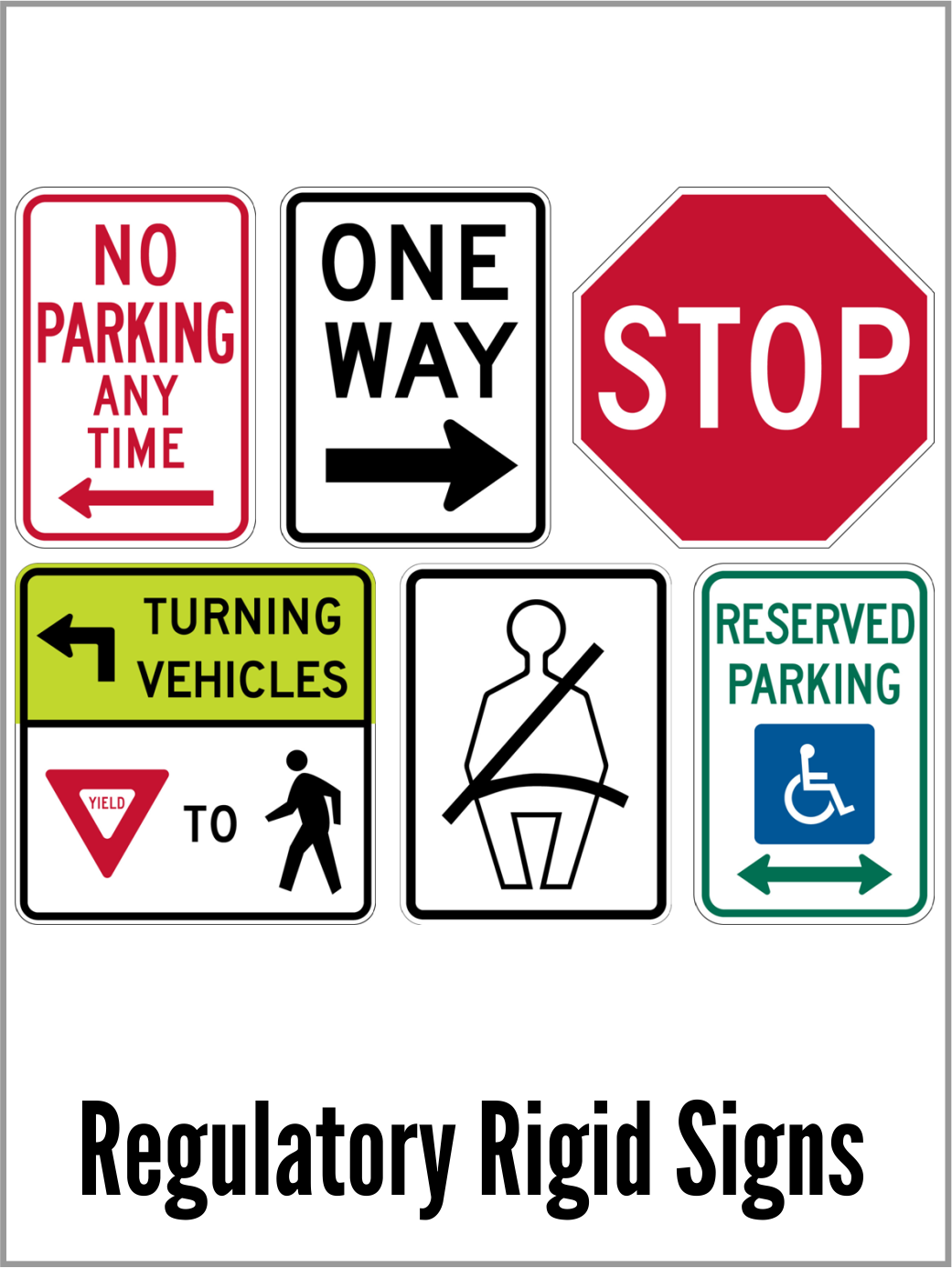 metal signs, one way sign, parking signs, stop signs, handicapped sign, aluminum sign, road sign, public works