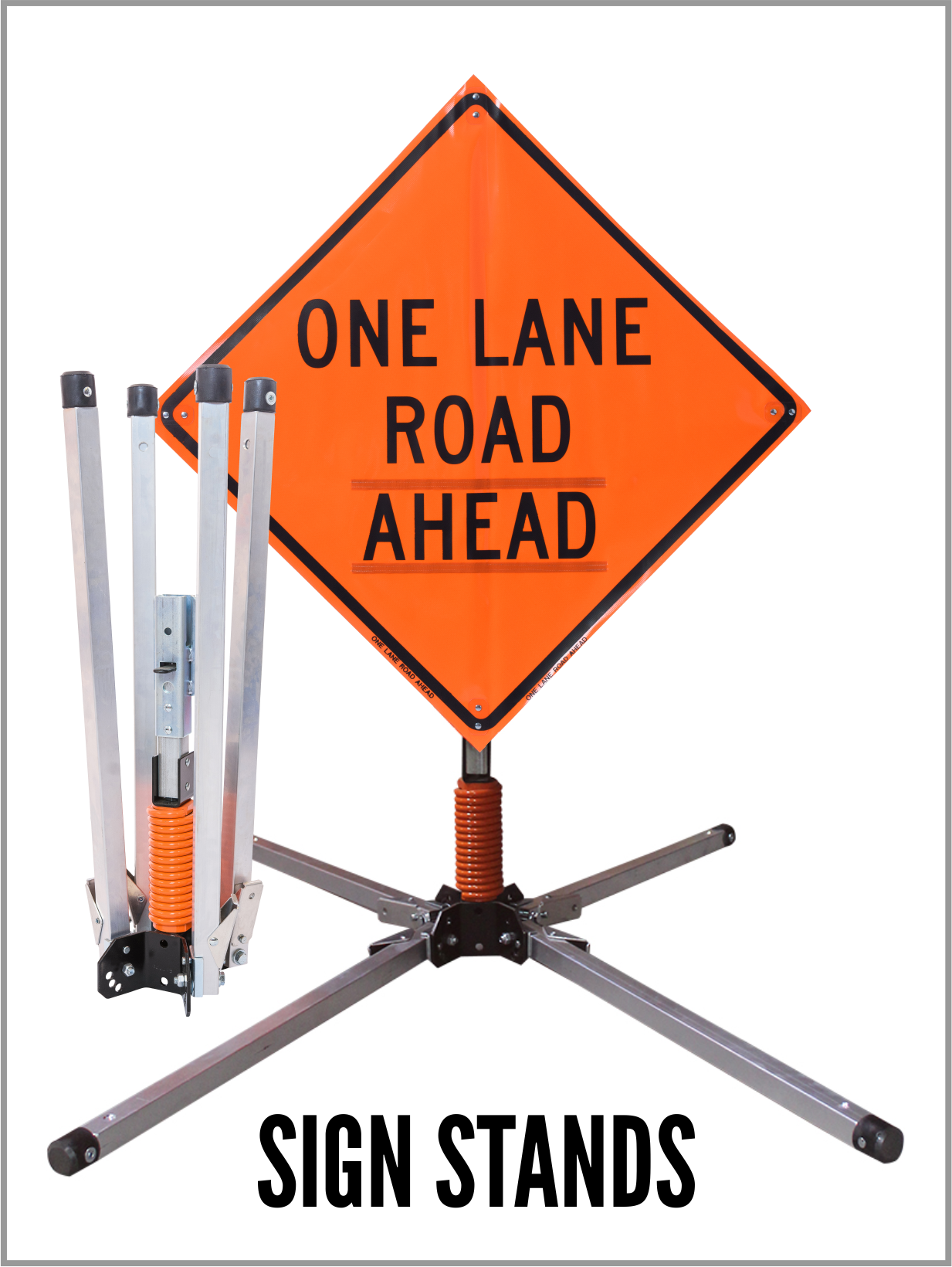 sign stands, roll ups, windmaster, wind master, wind deflection, construction zone signage, reflective traffic, where to buy traffic signs,