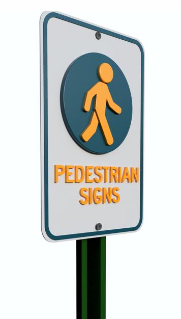 pedestrian signs, pedestrian mutcd signs