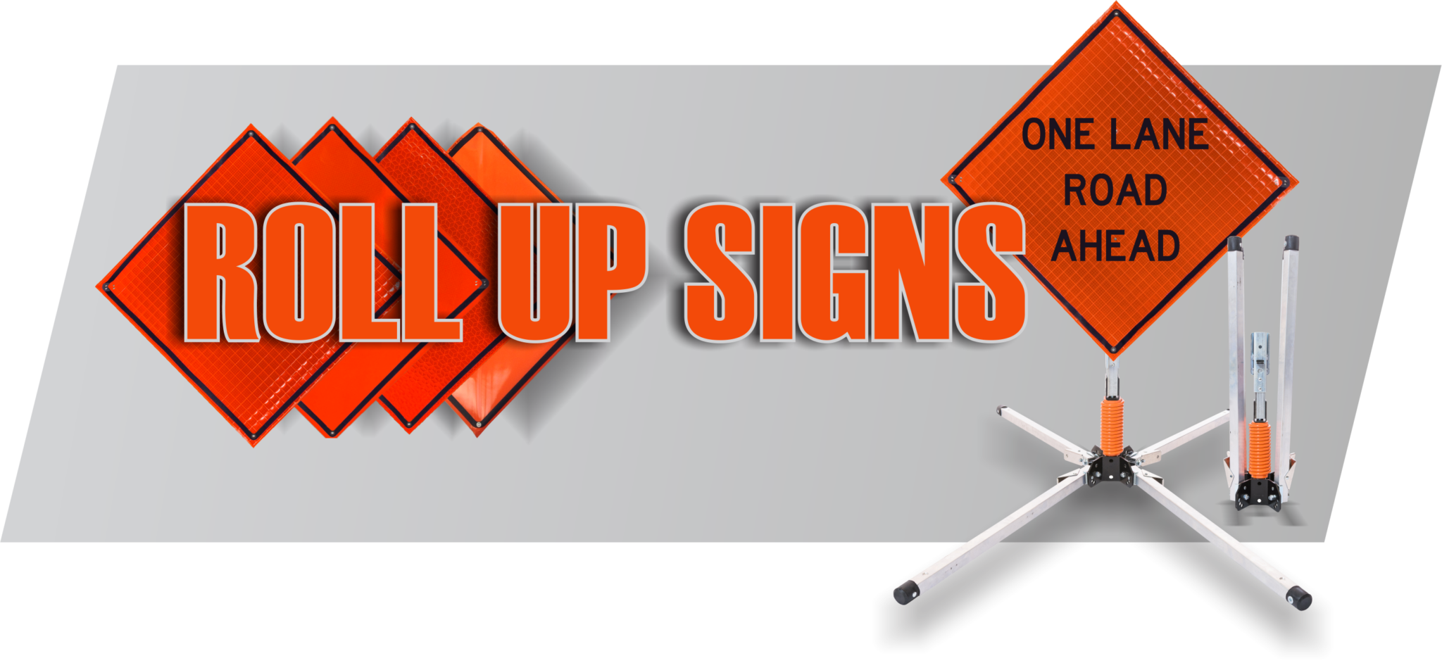 roll up construction sign, roll up traffic sign, warning sigs, roll up sign