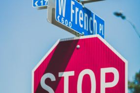 street signs stop