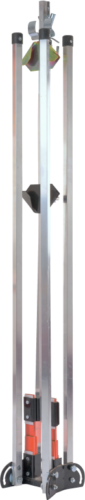 dual coil sign stand for traffic control and holds roll-ups and rigid