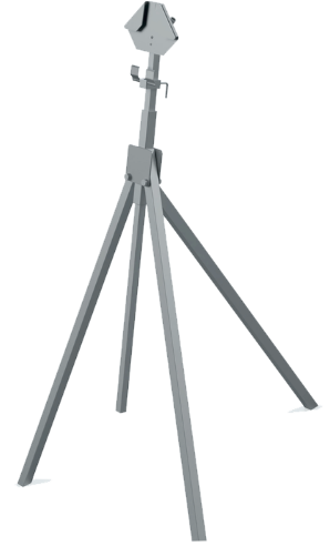 tripod sign stand for roll-up and rigid signs in traffic work zones