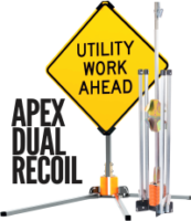 apex dual coil sign stand